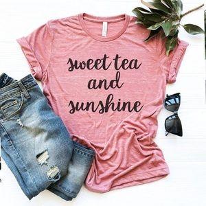 Summer Graphic Tees - Sweet Tea Sunshine - NEW